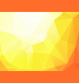 orange yellow triangular background vector image vector image