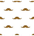 pattern with hipsters mustache on white background vector image vector image