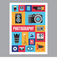 Photography - mosaic flat design poster vector image