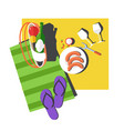 picnic summer outdoor activity or leisure and food vector image vector image