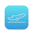 Plane taking off line icon vector image vector image
