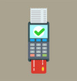 pos terminal and receipt icon credit card vector image