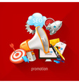 Promotional and marketing technologies on a vector image vector image