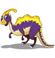 Purple parasaurolophus standing alone vector image vector image