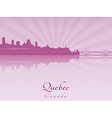 Quebec skyline in purple radiant orchid vector image vector image