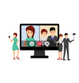 remote job interview vector image
