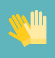 rubber yellow glove vector image