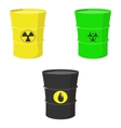 Set barrels oil toxic and nuclear waste vector image vector image