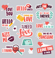 set love stickers for social network vector image