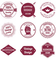 Set of Brand Design Badge and Label vector image vector image