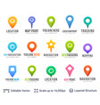 set of map location pointers vector image vector image
