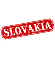 slovakia red square grunge retro style sign vector image vector image