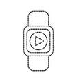 smart watch digital technology play button vector image