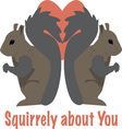 Squirrely About You vector image vector image