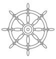 steering wheel contour vector image vector image
