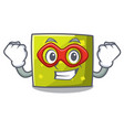 super hero square character cartoon style vector image vector image