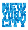 T shirt typography graphics New York blue grunge vector image vector image