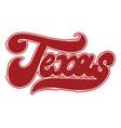 texas handwritten lettering made in old school vector image