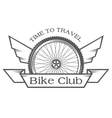 The emblem on the theme of cycling club vector image vector image