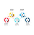 thin lines with color circles for business vector image vector image