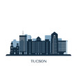 tucson skyline monochrome silhouette vector image vector image