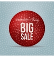 valentines day big sale red realistic ball vector image vector image