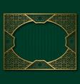 vintage golden frame in oriental style vignette vector image