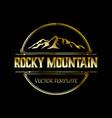 vintage rocky mountain logo design vector image vector image