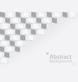 white gray abstract background square 3d modern vector image vector image