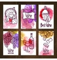 Wine Cards Set vector image vector image