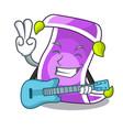 with guitar cartoon fairytale story and magic vector image