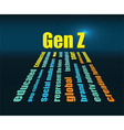 generation z word vector image