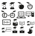 education icons set vector image
