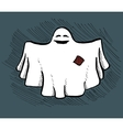 Hand drawn ghost vector image