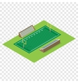 Isometric american football field vector image