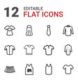 12 shirt icons vector image vector image