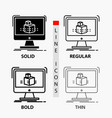 3d cube dimensional modelling sketch icon in thin vector image vector image