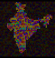 abstract map of india colorful dots vector image vector image
