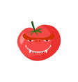 angry tomato aggressive red vegetable dangerous vector image vector image