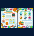 back to school poster with science infographics vector image vector image