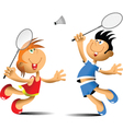badminton player vector image vector image