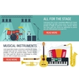 banners of musical Instruments I vector image vector image