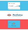 beautiful eye logo and business card vertical vector image vector image