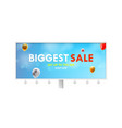 billboard with advertising biggest sale get up vector image vector image