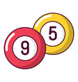 billiard ball icon cartoon style vector image