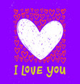 bright i love you postcard with hearts and i love vector image vector image