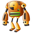 brown cartoon robot isolated on white background vector image vector image