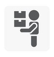 carton and courier icon on white vector image