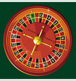 casino roulette wheel vector image