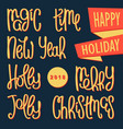 christmas and new years design elements vector image vector image